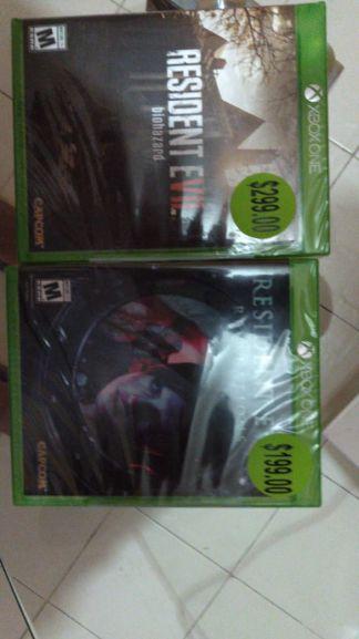 Bodega Aurrera Sur de Chilpancigo, Gro: Resident Evil Revelations y Resident Evil 7 Xbox One