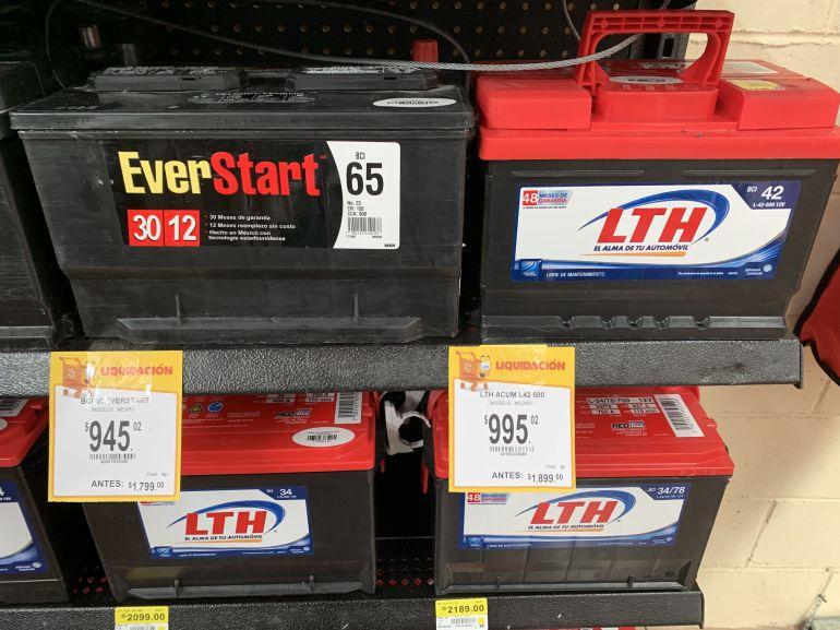 Walmart Morelos: Baterías para automóvil LTH y EverStart
