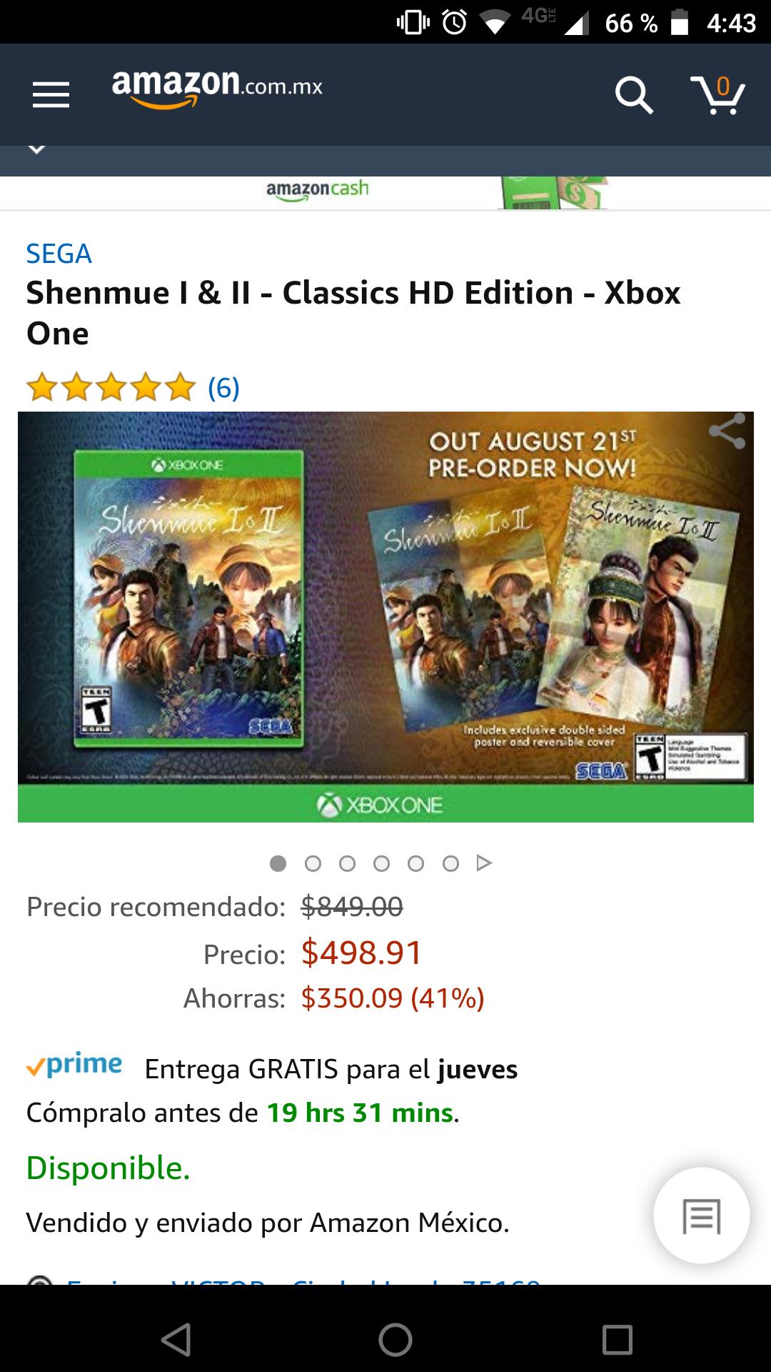 Amazon: Shenmue I & II - Classics HD Edition - Xbox One