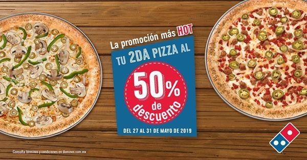 Hot Sale en Dominos Pizza: 2×1½ en Pizzas del 27 al 31 de Mayo 2019