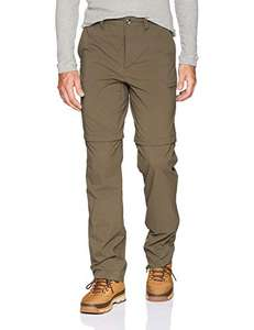 Amazon: Solstice Apparel Stretch - Pantalón Convertible café talla 38