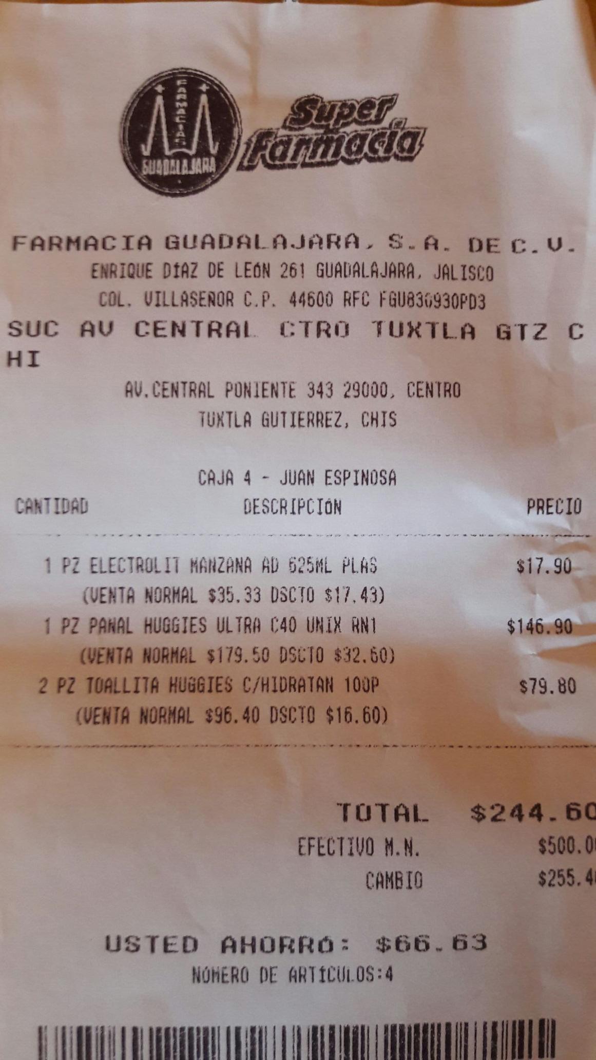 Farmacias Guadalajara: Toallitas Humedas Huggies Cuidado Hidrantante
