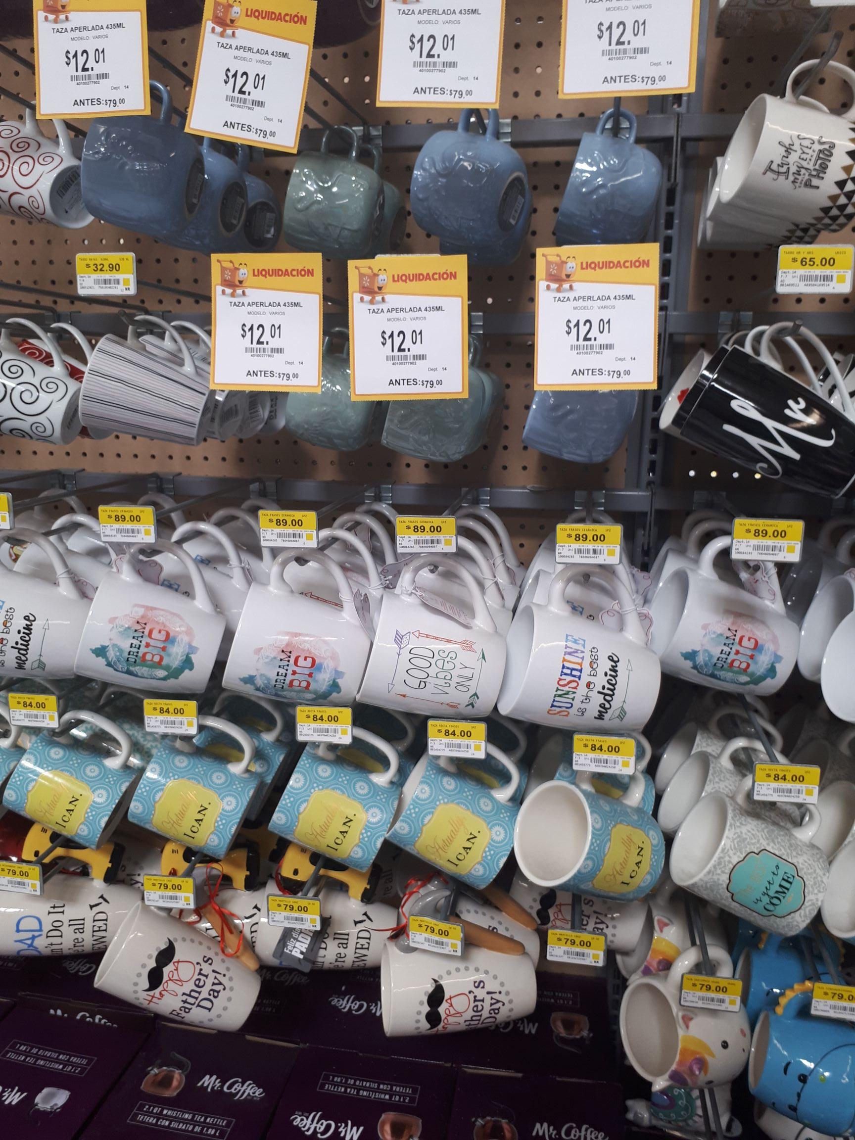 Walmart: Tazas