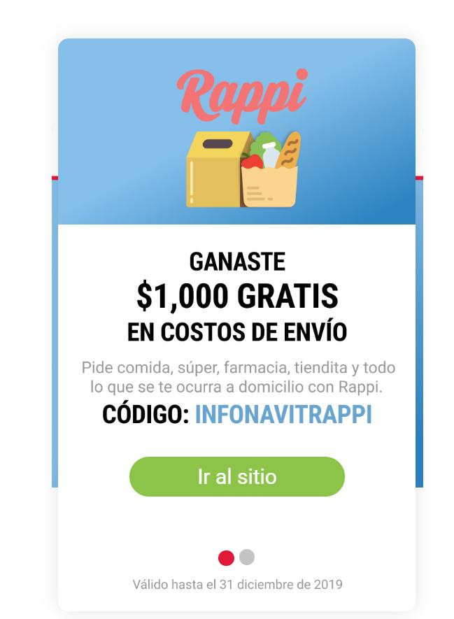 $1000 en envíos para Rappi