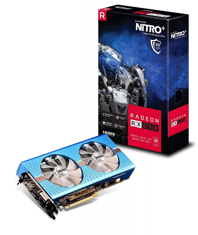 cyberpuerta Sapphire AMD Radeon RX 590 Nitro, 8GB 256-bit GDDR5+(Tom Clancy's The Division Gold Edition y World War Z)
