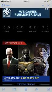 Playstation Store: Warner Bros Sale