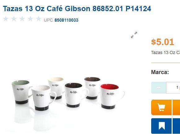 Chedraui: Tazas de Café Gibson y más