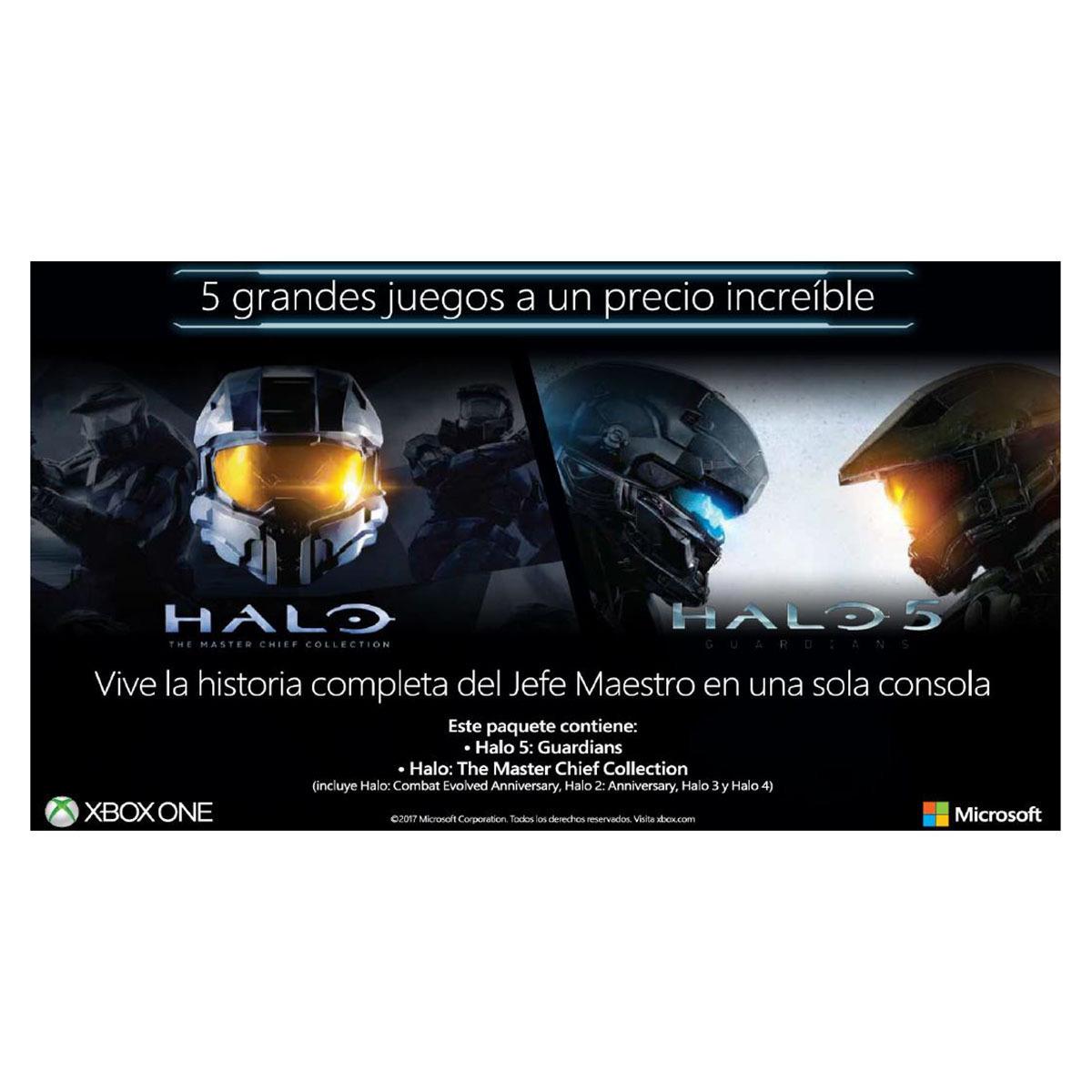Chedraui: Halo 5 + Halo Master Chief Xbox One Microsoft (halo1,2,3,4)