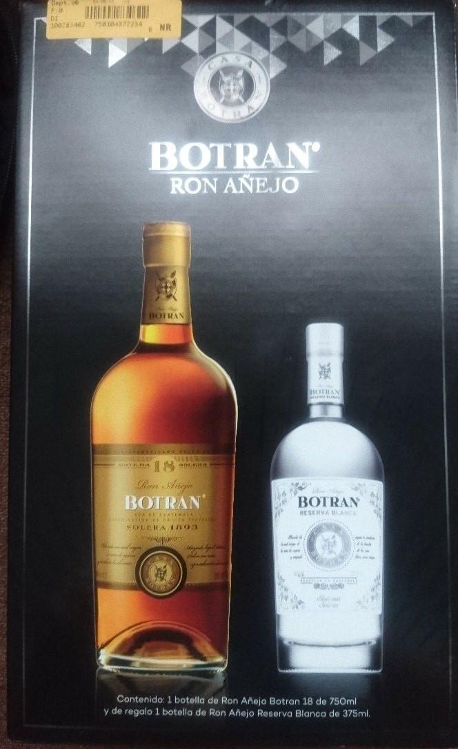 Superama: ron Botrán 18 años + ron blanco 375 ml en tercera liquidación