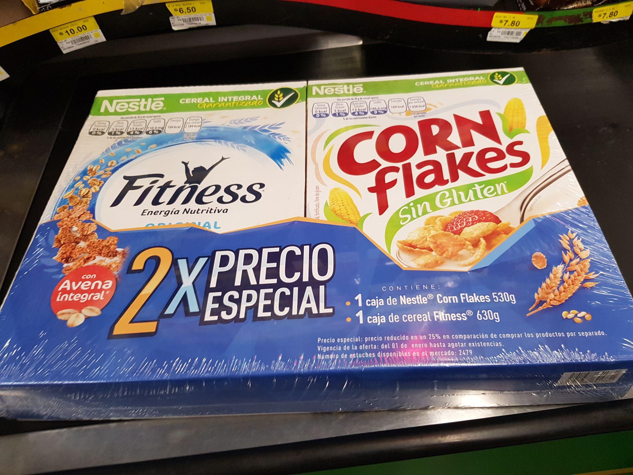 Bodega Aurrera Corales: Cereal 2 pack en 32.03 y rasuradora de cartucho 40.03