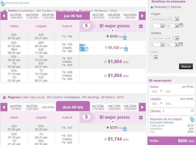 (EXTENDIDA) Volaris: hasta 80% de descuento volando del DF, GDL o Toluca (DF-Cancún $882 y +)