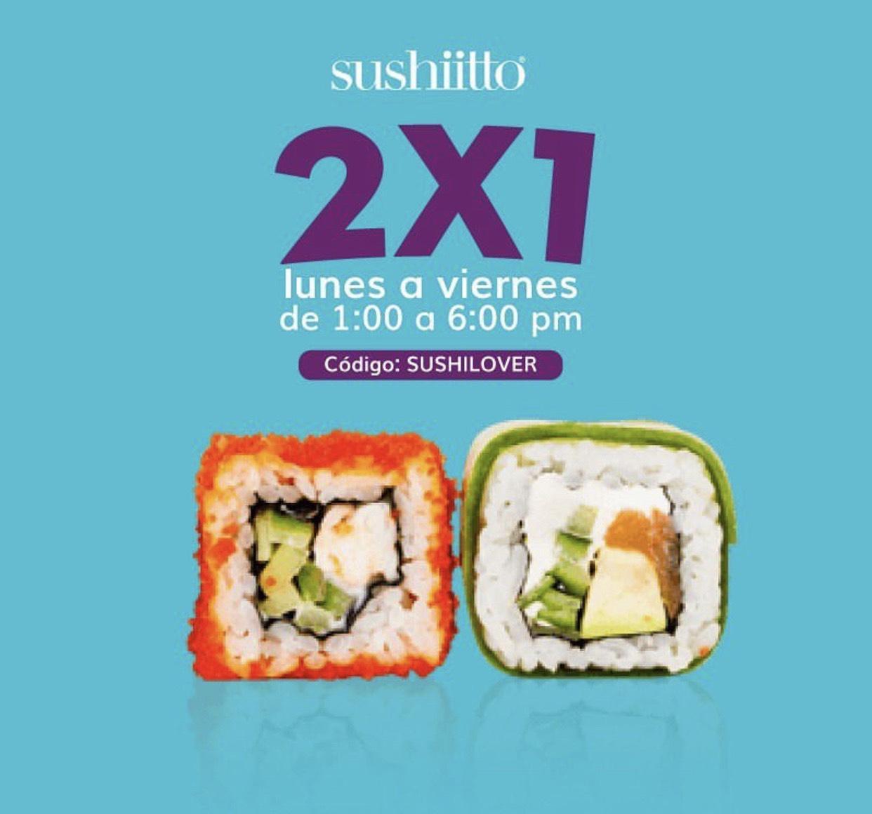 2x1 en Sushiitto Puebla
