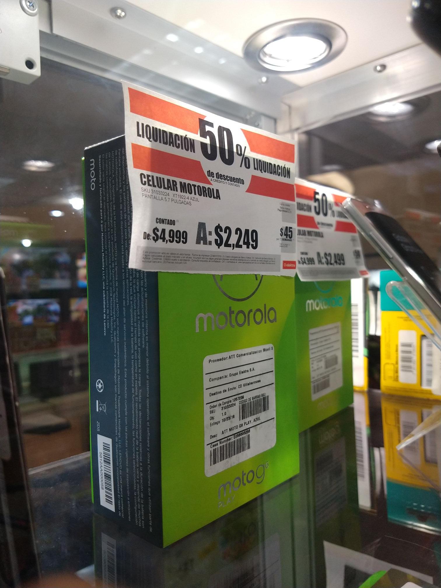 Moto G6 Play AT&T - Liquidacion Elektra( También en linea)