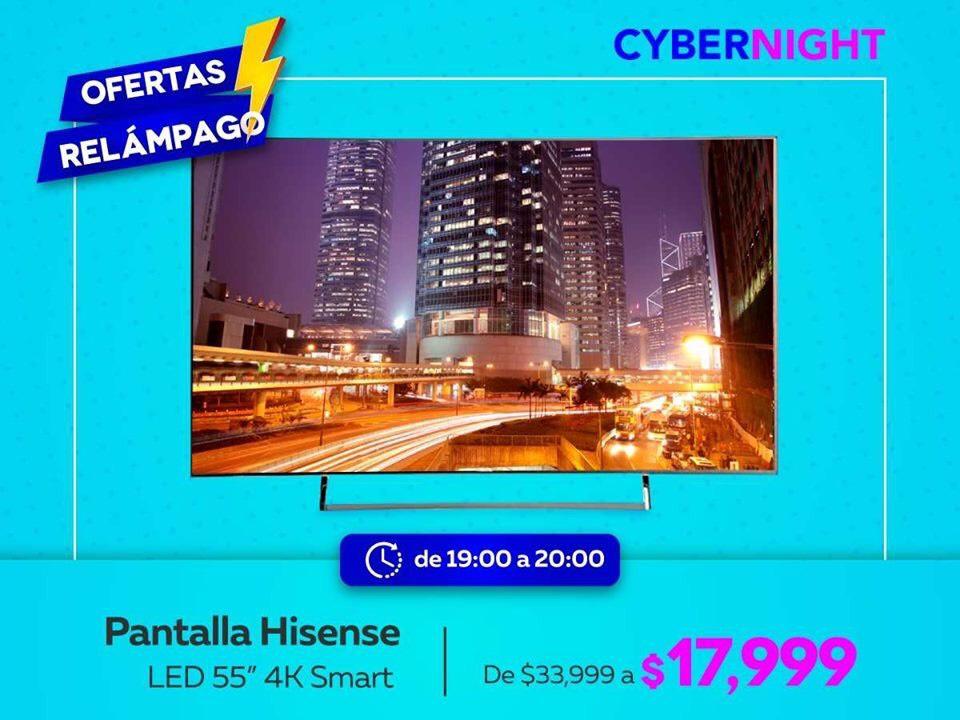 "Elektra: Pantalla Hisense 55"" 4k"