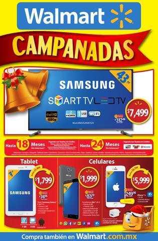 Folleto ofertas campanadas Walmart 2015: Moto X PLay $5499, juegos de desarmadores $199 y más