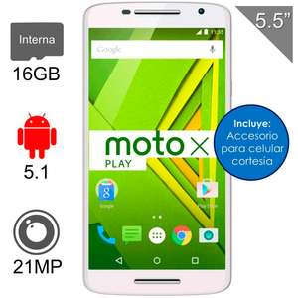 WALMART: Motorola Moto X Play 16GB Blanco 4G LTE