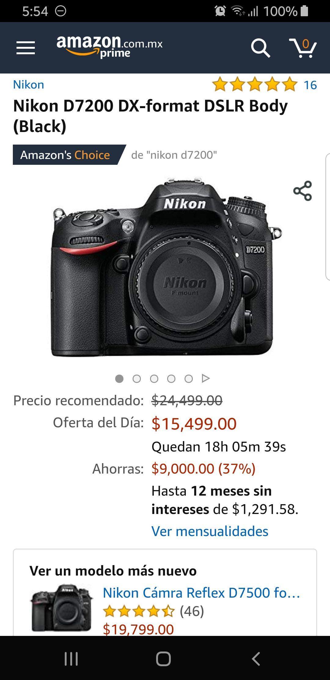 Amazon: Nikon 7200