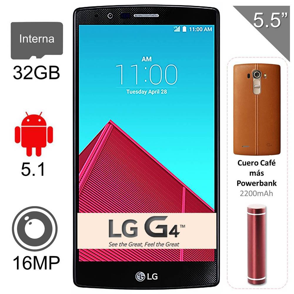 Walmart: Smartphone LG G4 32GB Cubierta Piel Cafe mas Bateria Portatil Virgin Mobile