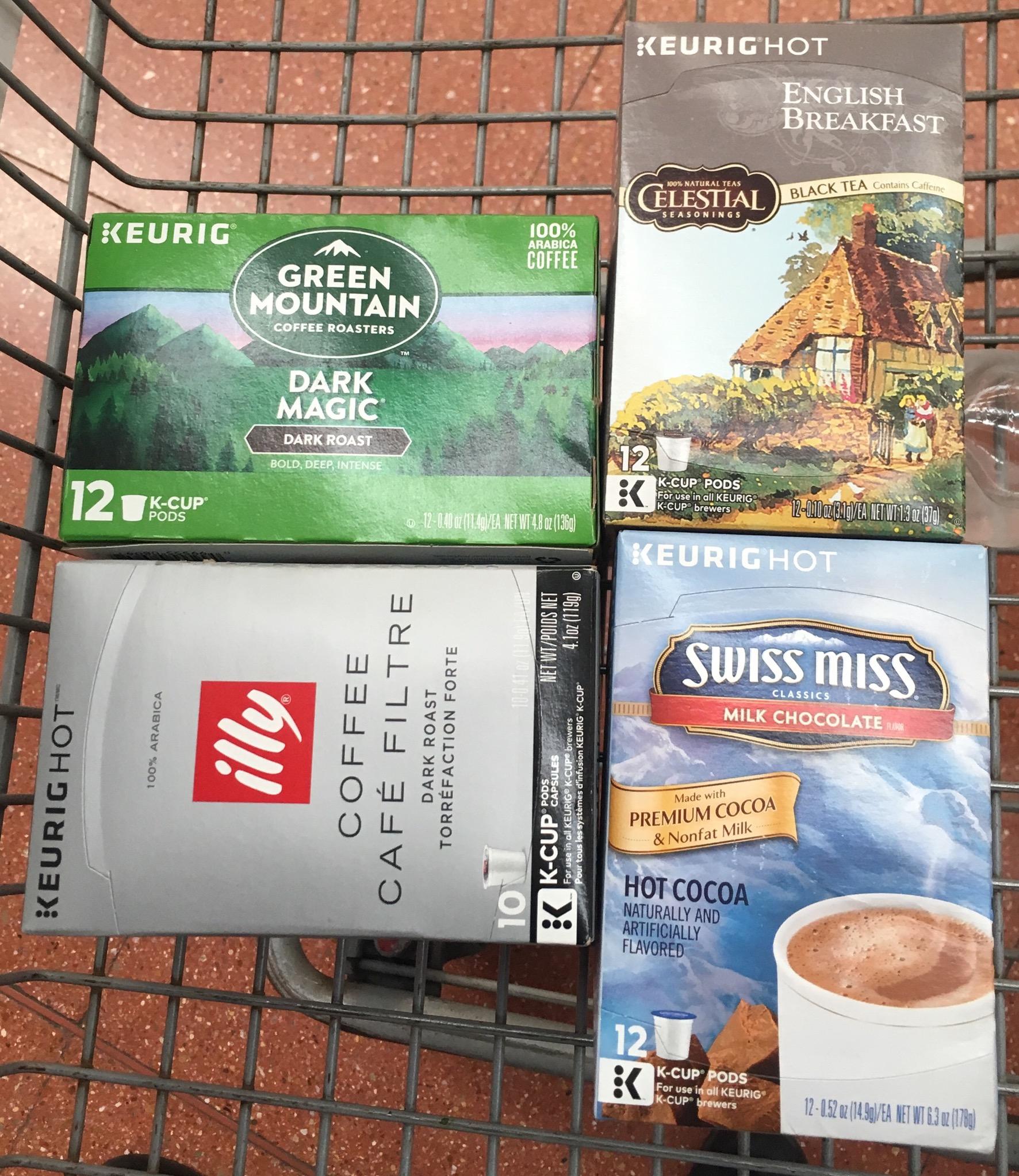 Walmart: cápsulas KEURIG K-CUPS desde $32.01
