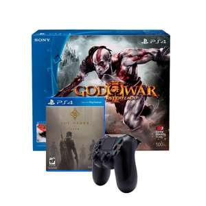 Walmart: Consola PS4 500GB mas Gow III Remastered mas Dualshock 4 Wireless mas The Order 1886