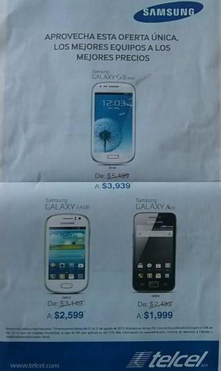 Telcel: ofertas en celulares Samsung en Amigo Kit