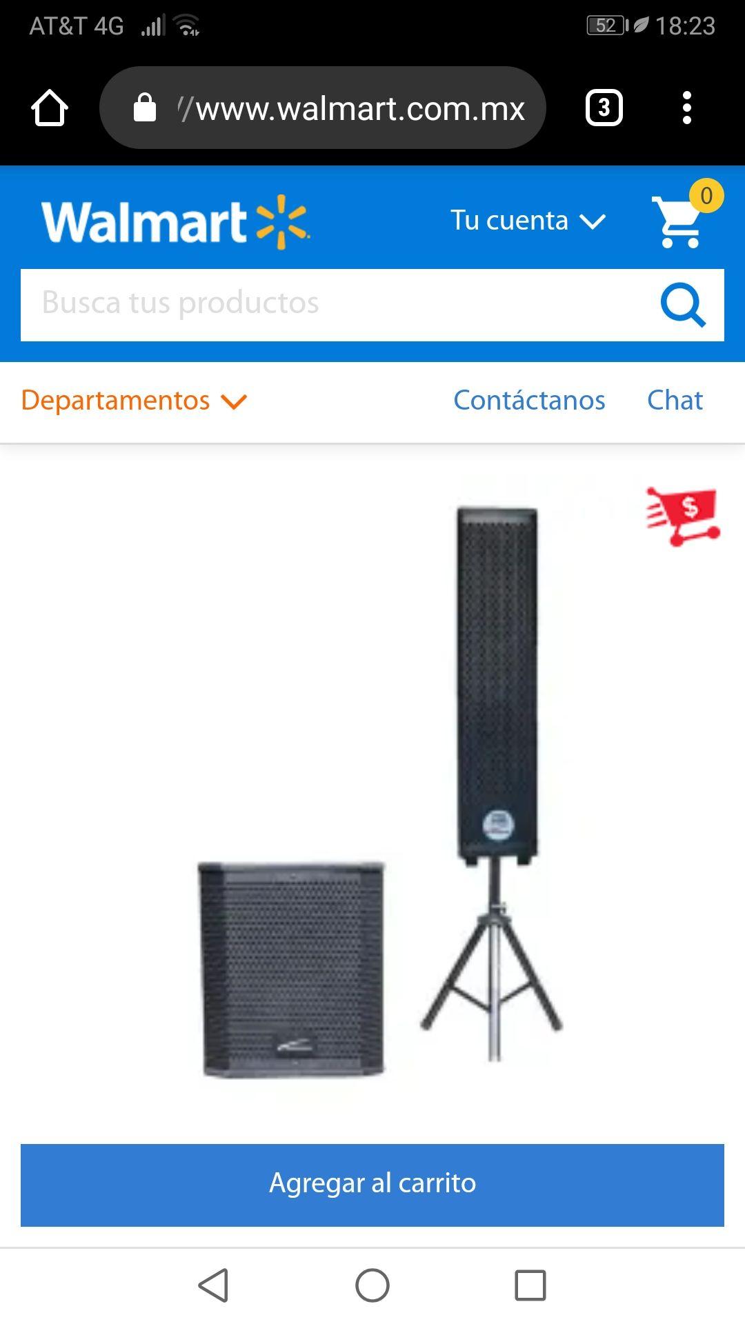 Walmart: Sistema de Audio Profesional Audiobahn