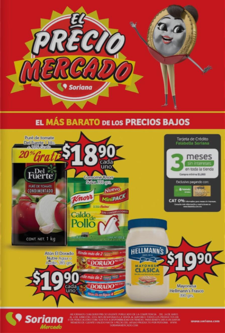 Soriana Mercado y Express: Folleto del 24 de Mayo al 04 de Junio