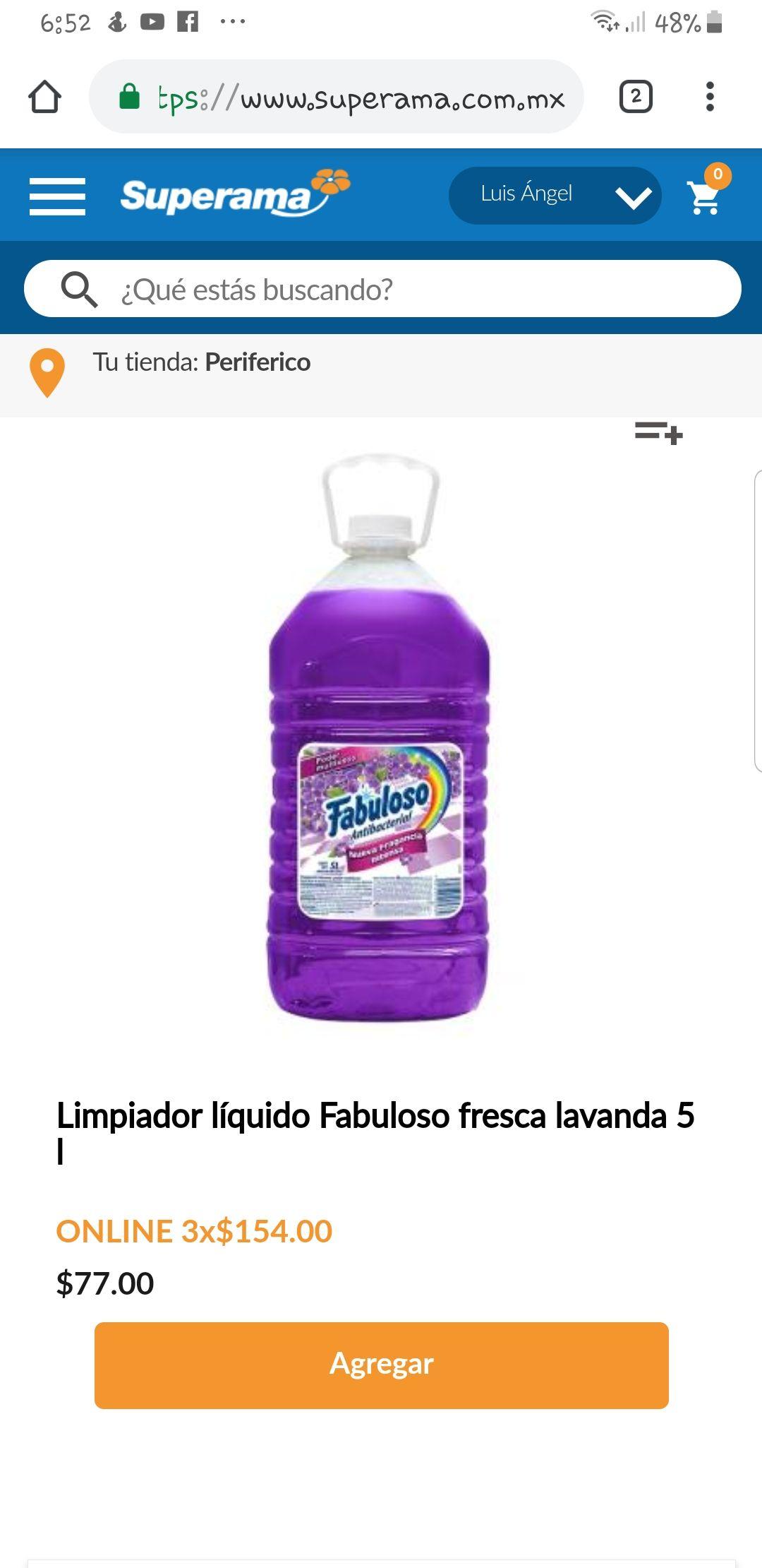 Superama: Fabuloso 15 litros