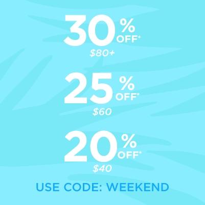 Tarte: productos con el 20%, 25% y 30%
