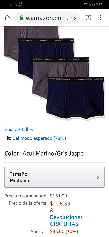 Amazon: 4 boxers Hanes, tallas M y L