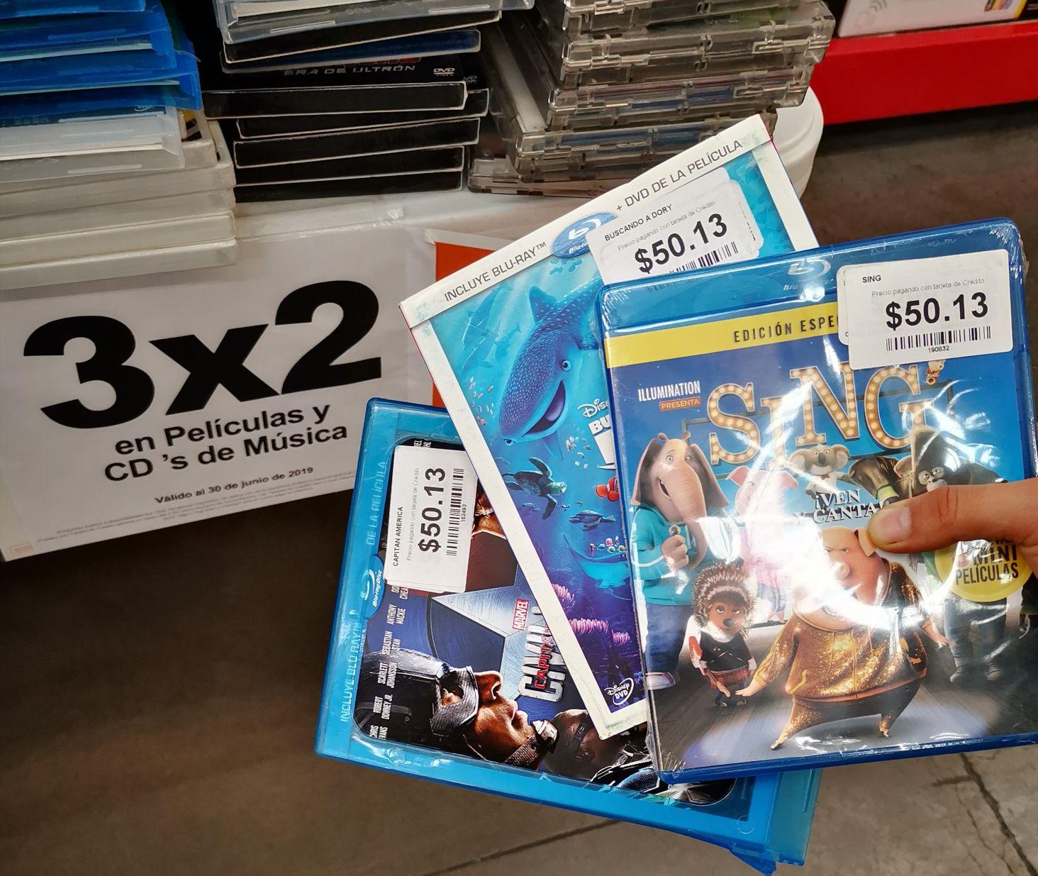 Películas en Blu-ray desde 50 y 3x2