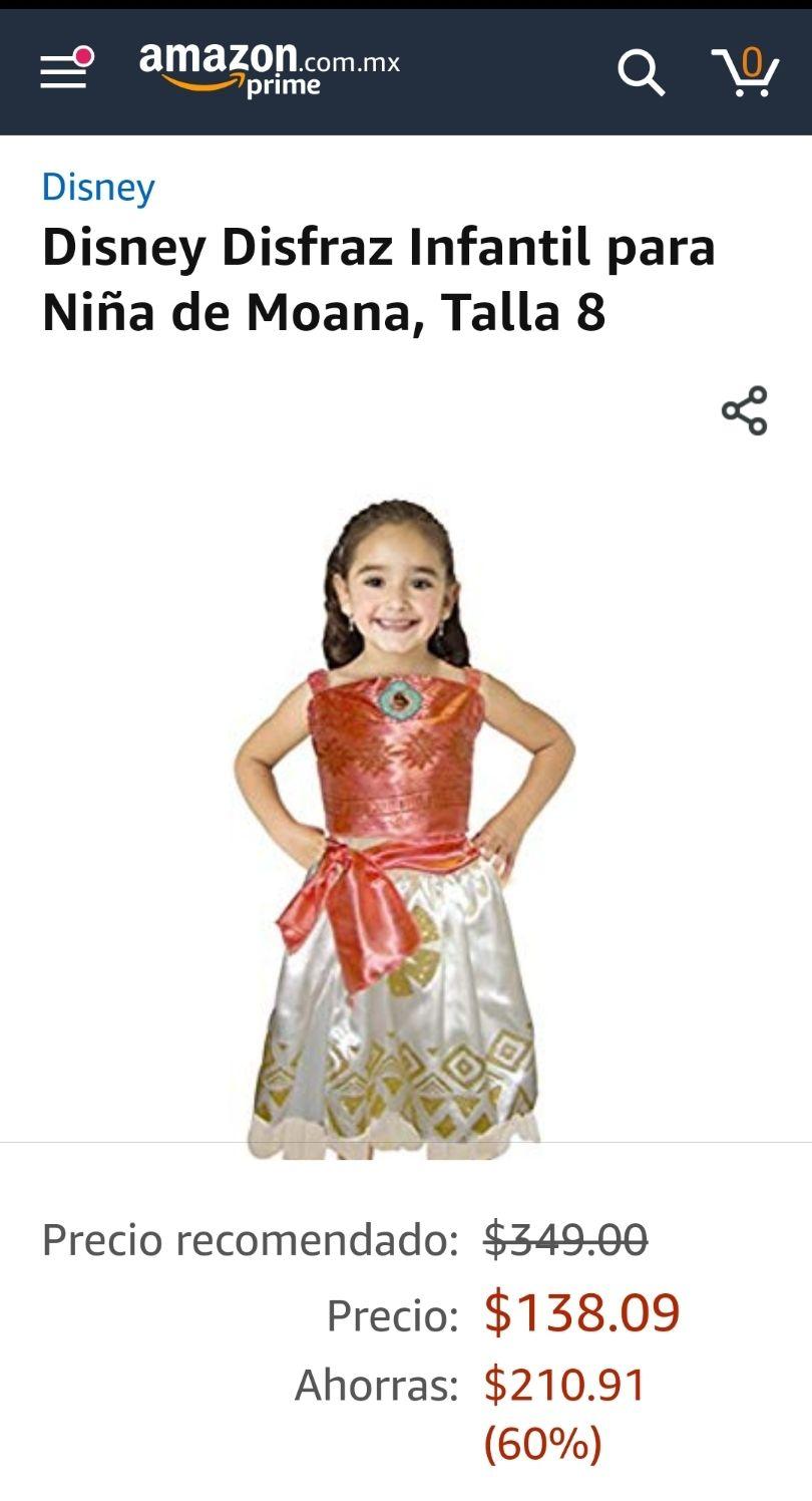 Amazon: disfraz moana talla 8