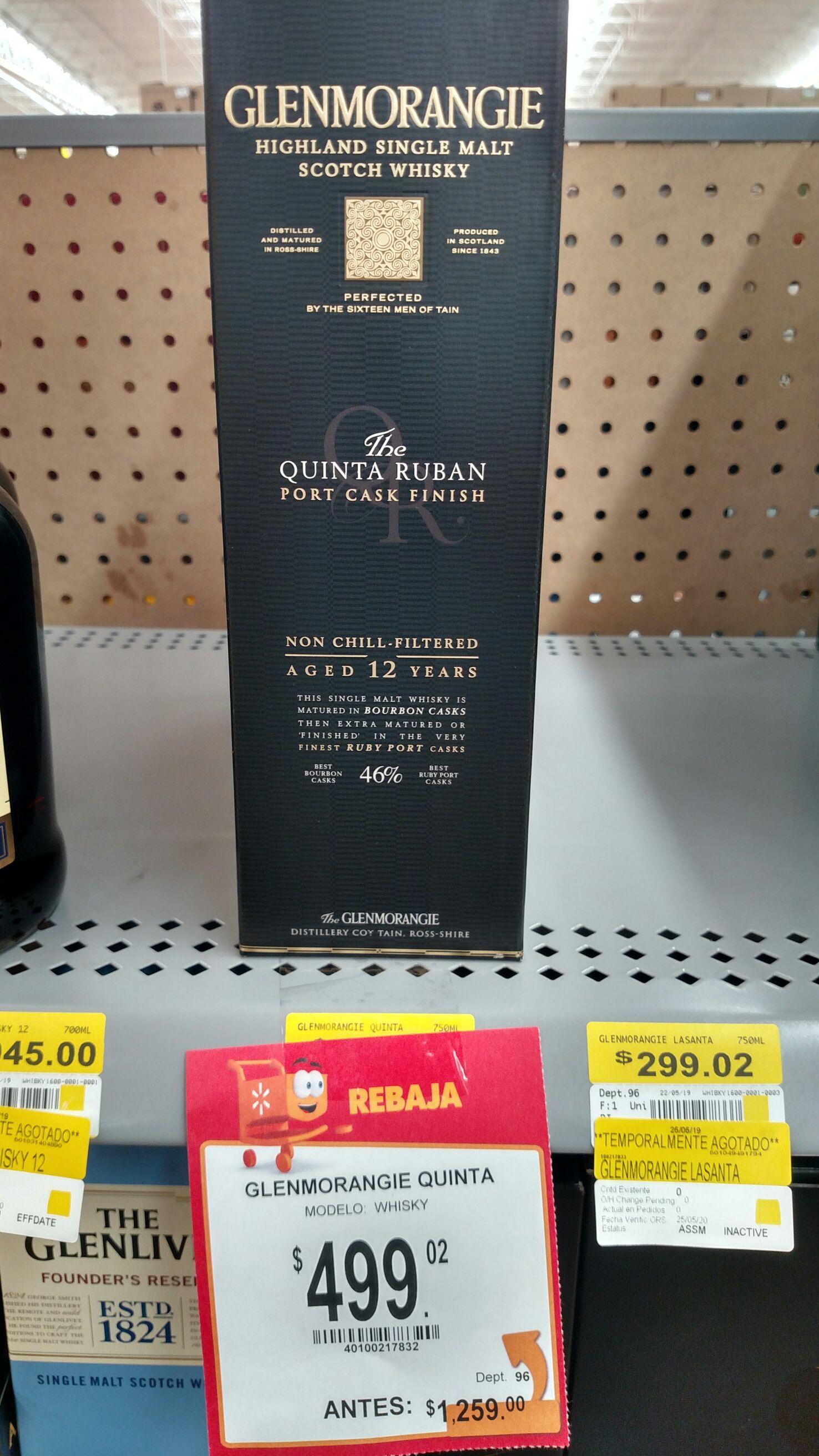 Walmart: Whisky Glemorangie 12 años