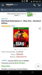 Amazon: Red Dead Redemption 2 para Xbox One