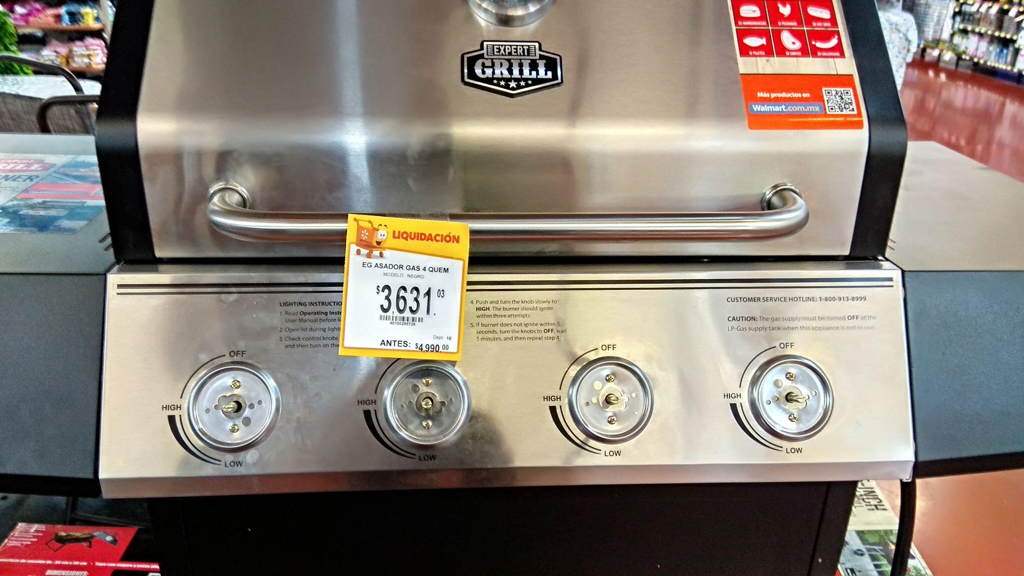 Walmart: Asador de gas Expert Grill