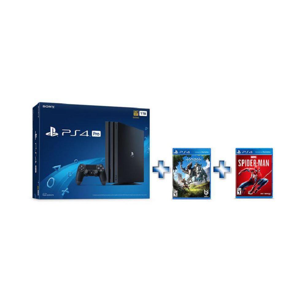 Elektra: Bundle de Consola PlayStation 4 Pro + Spiderman + Horizon pagando Con CitiPay