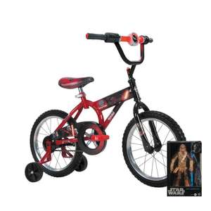 Walmart: Bicicleta Huffy Star Wars Episodio VII Rodada 16 y Chewbacca Star Wars Black Series