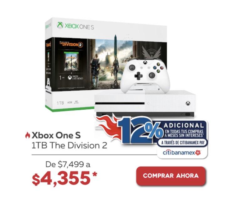 Elektra: Consola Xbox One S 1TB The Division 2 pagando con Citibanamex pay