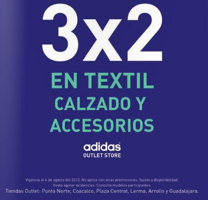 Adidas Outlet Store: 3x2 en ropa, tenis y accesorios
