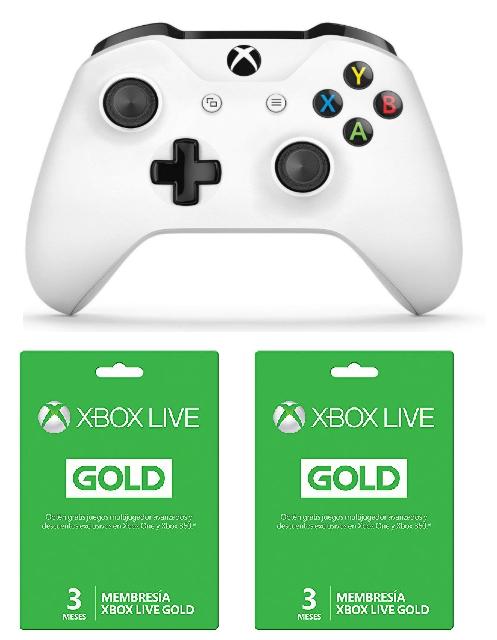 Amazon: Control inalámbrico Xbox One blanco + 6 meses de Gold + 1000 monedas en Apex Legends