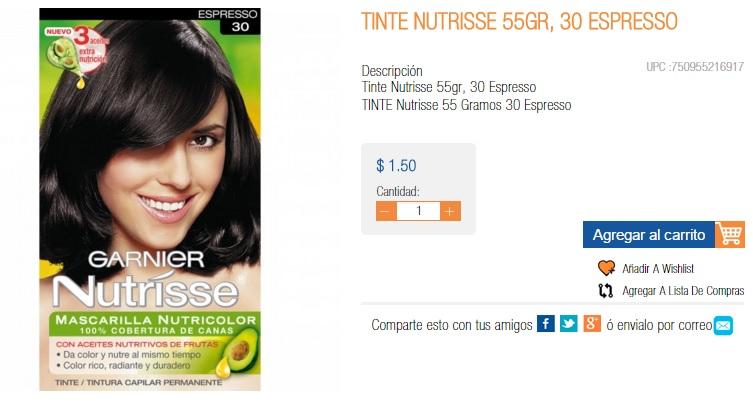 Chedraui ONLINE (nuevo laredo-aquiles serdan): Tinte Nutrisse a 1.50