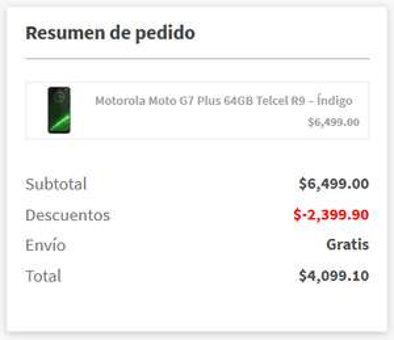 Elektra: Motorola Moto G7 Plus Telcel Rojo (Pagando con CitiPay)