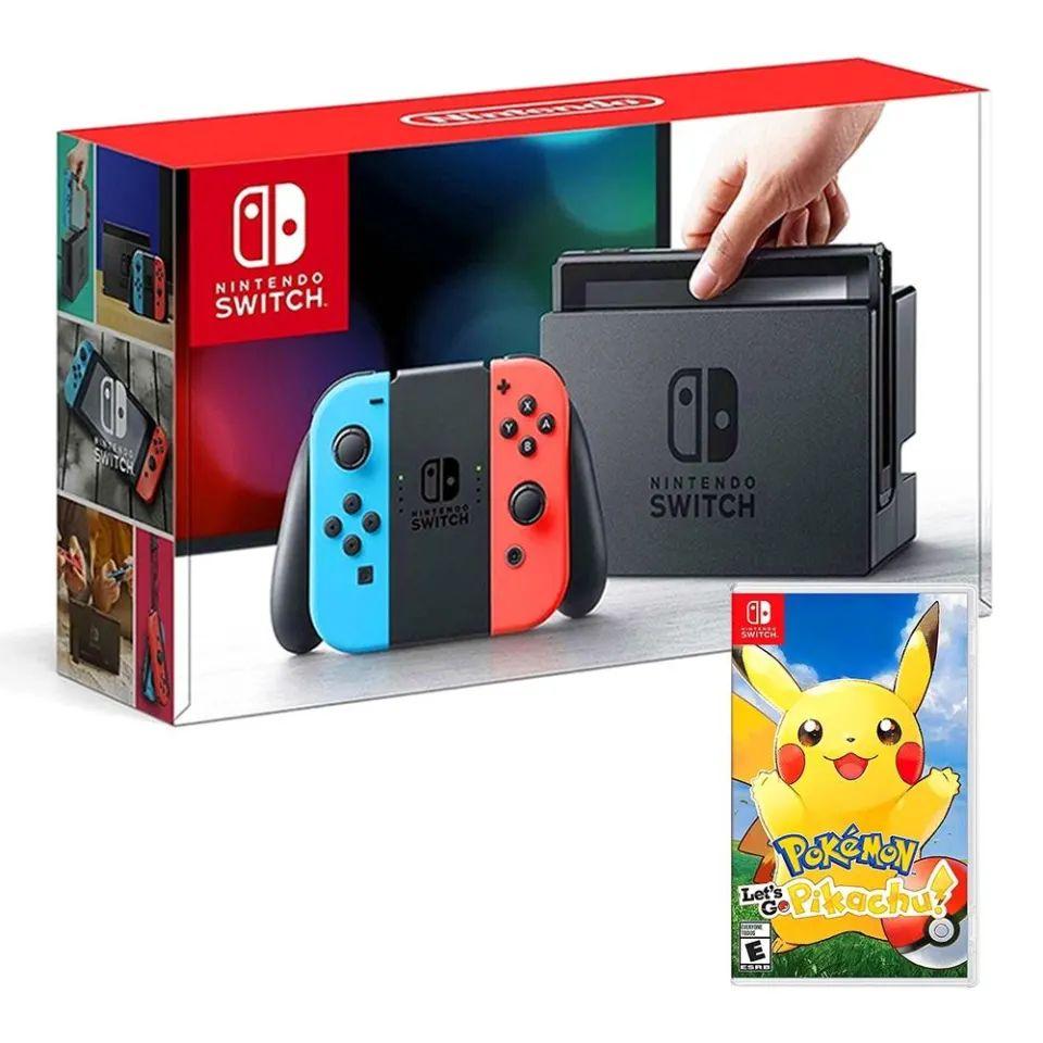 Walmart: Bundle de Consola Nintendo Switch Neon + Pokemon Let's Go Pikachu (Pagando con Bancomer o Inbursa)
