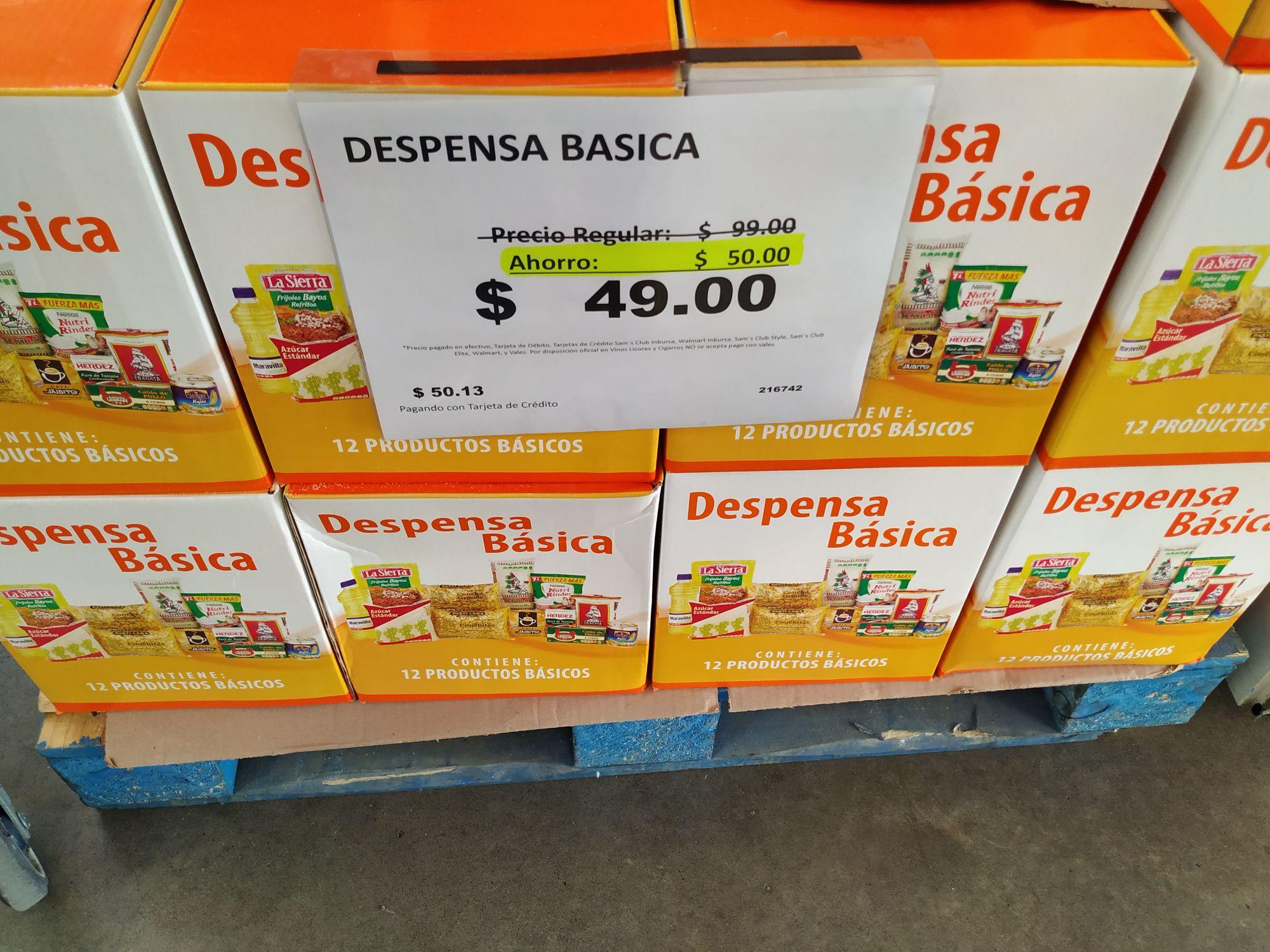 Despensa básica Sam's Club Iguala