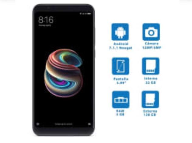 Walmart: Smartphone Xiaomi Note 5 32 GB Negro Desbloqueado.