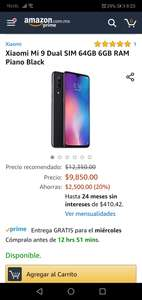 Amazon: Xiaomi Mi 9 (Pagando con Citipay)