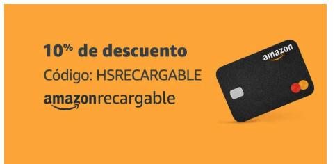 Amazon: 10% de descuento con tarjeta Amazon Recargable
