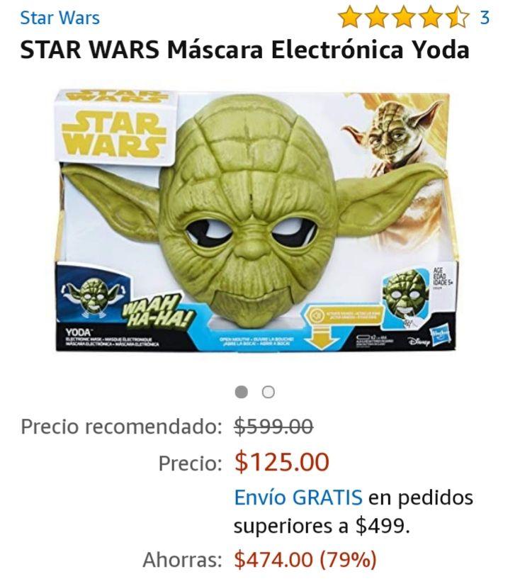 Amazon: Mascara Yoda
