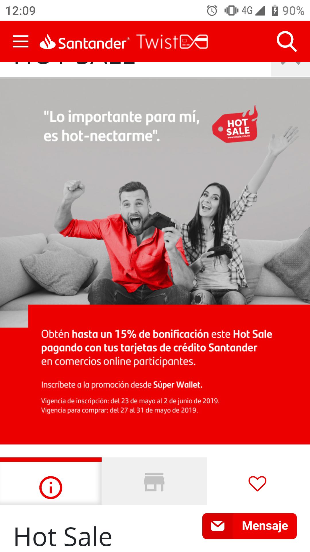 Santander: hasta 15% de descuento en comercios participantes