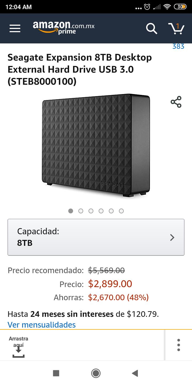 Amazon MX: Seagate Expansion 8TB Desktop External